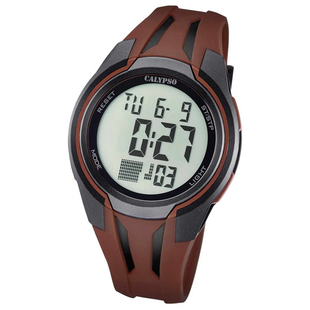 Calypso Herren-Armbanduhr Digital for Man digital Quarz PU braun UK5703/5