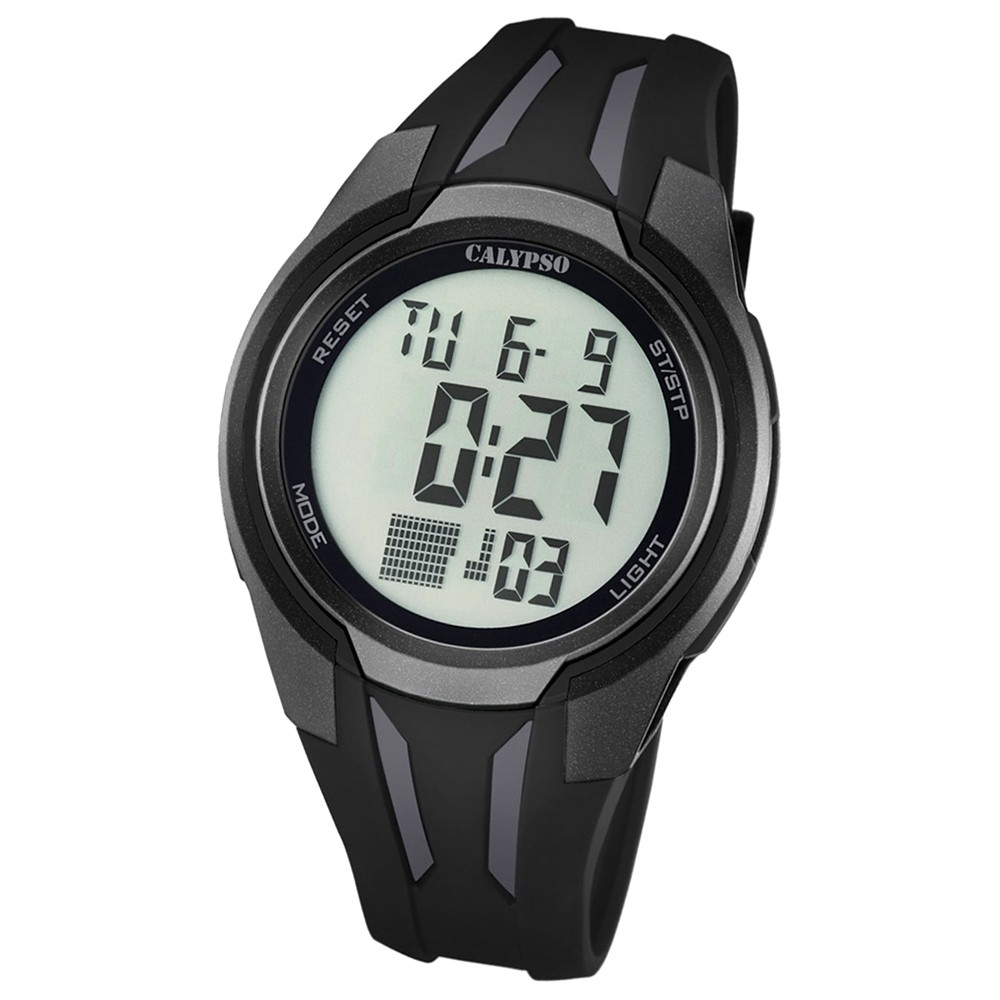 Calypso Herren-Armbanduhr Digital for Man digital Quarz PU schwarz UK5703/6