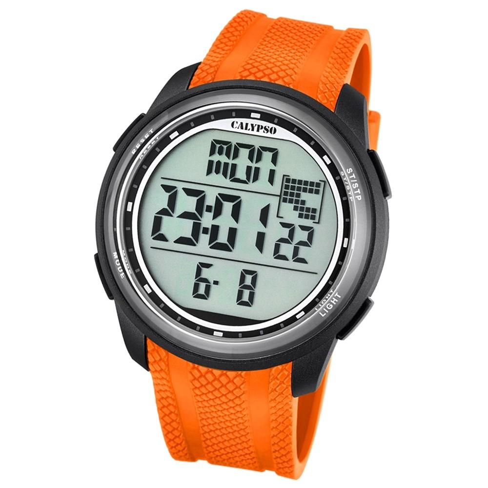 Calypso Herren-Armbanduhr Digital for Man digital Quarz PU orange UK5704/2