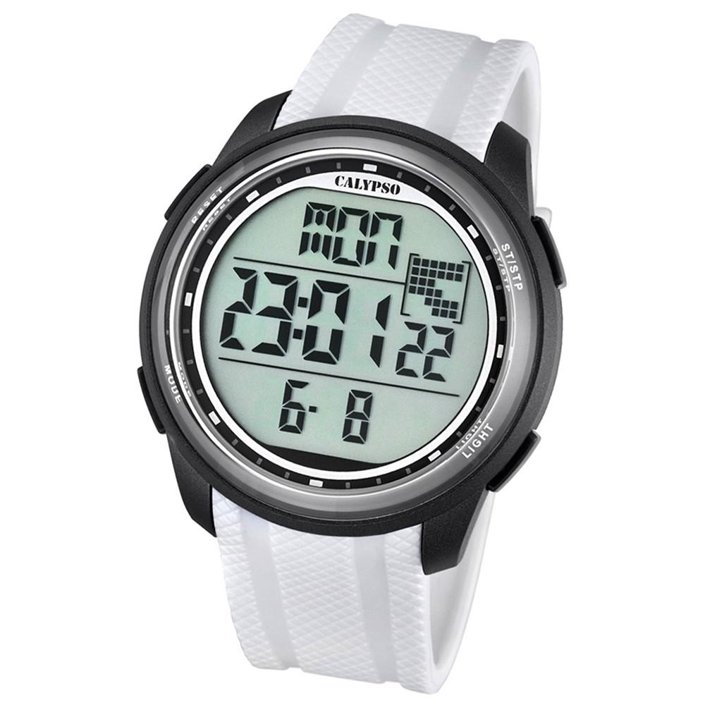 Calypso Herren-Armbanduhr Digital for Man digital Quarz PU weiß UK5704/5