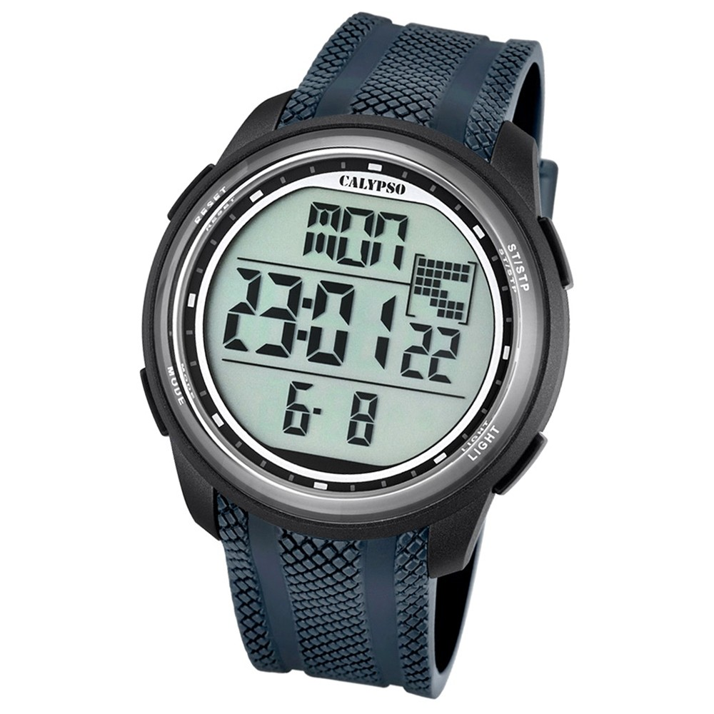 Calypso Herren-Armbanduhr Digital for Man digital Quarz PU grau UK5704/6