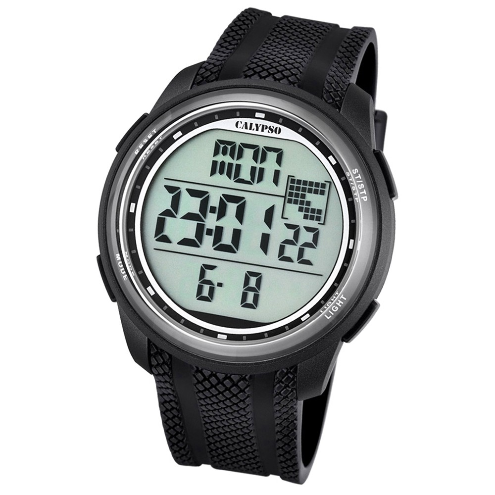 Calypso Herren-Armbanduhr Digital for Man digital Quarz PU schwarz UK5704/8