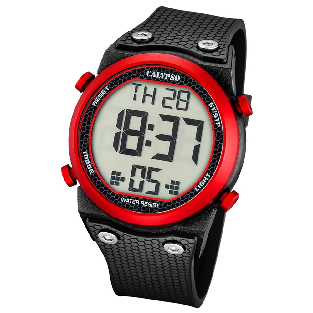 Calypso Herren-Armbanduhr Digital for Man digital Quarz PU schwarz UK5705/2