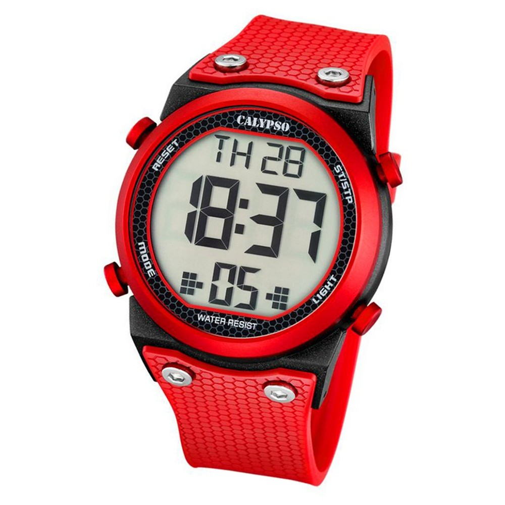 Calypso Herren-Armbanduhr Digital for Man digital Quarz PU rot UK5705/5