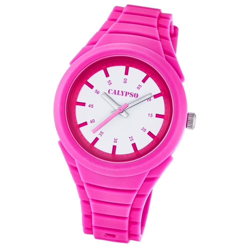 Calypso Damen-Armbanduhr Versatil for Woman analog Quarz PU pink UK5724/2