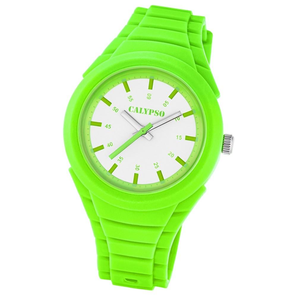 Calypso Trend Damen-Armbanduhr Versatil for Woman analog Quarz PU grün UK5724/5