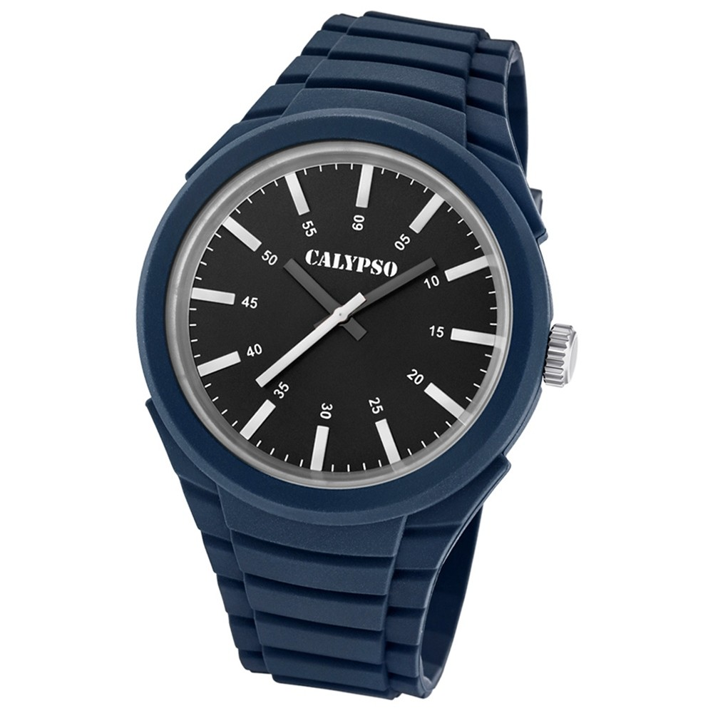 Calypso analoge Herren Quarzuhr Versatil for Man PU-Armband dunkelblau UK5725/5