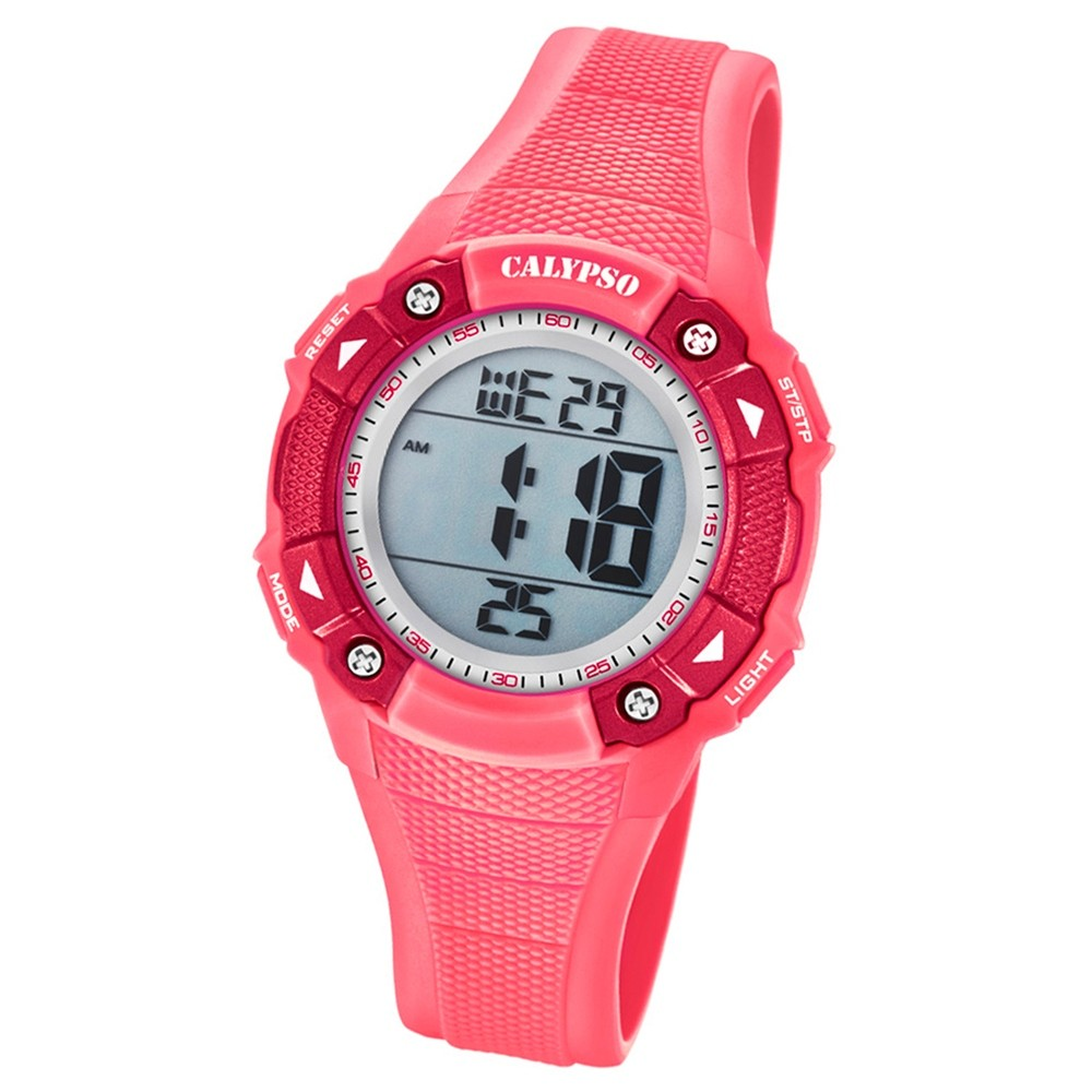 Calypso Armbanduhr Damen Digital for Woman K5728/2 Quarzuhr PU rosa UK5728/2