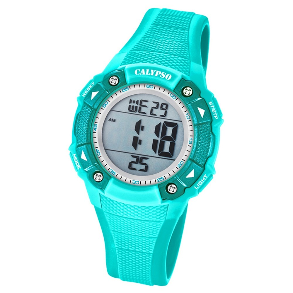 Calypso Armbanduhr Damen Digital for Woman K5728/4 Quarzuhr PU türkis UK5728/4