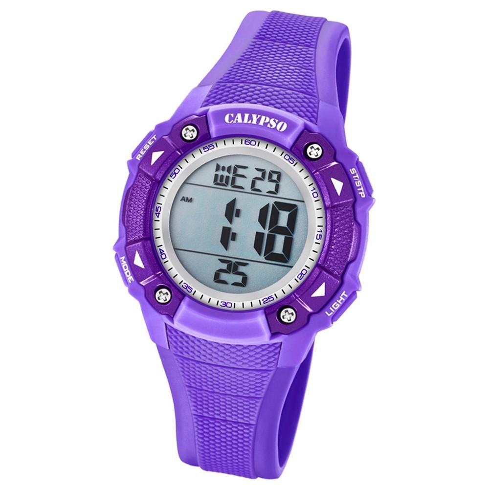 Calypso Armbanduhr Damen Digital for Woman K5728/5 Quarzuhr PU lila UK5728/5