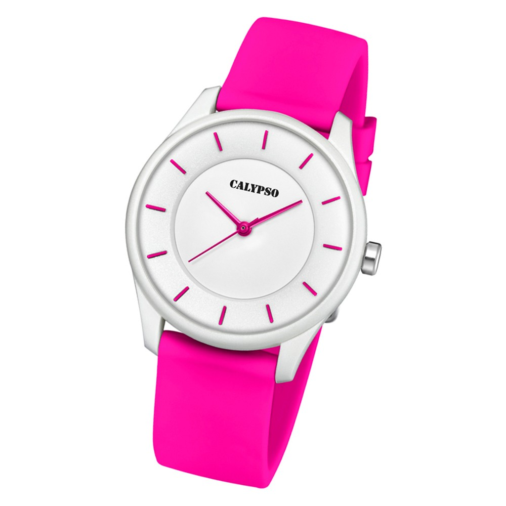 Calypso Damen Armbanduhr Sweet Time K5733/4 Quarz-Uhr PU rosa UK5733/4