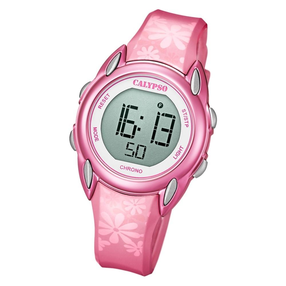 Calypso Kinder Armbanduhr Digital Crush K5735/5 Quarz-Uhr PU pink UK5735/5