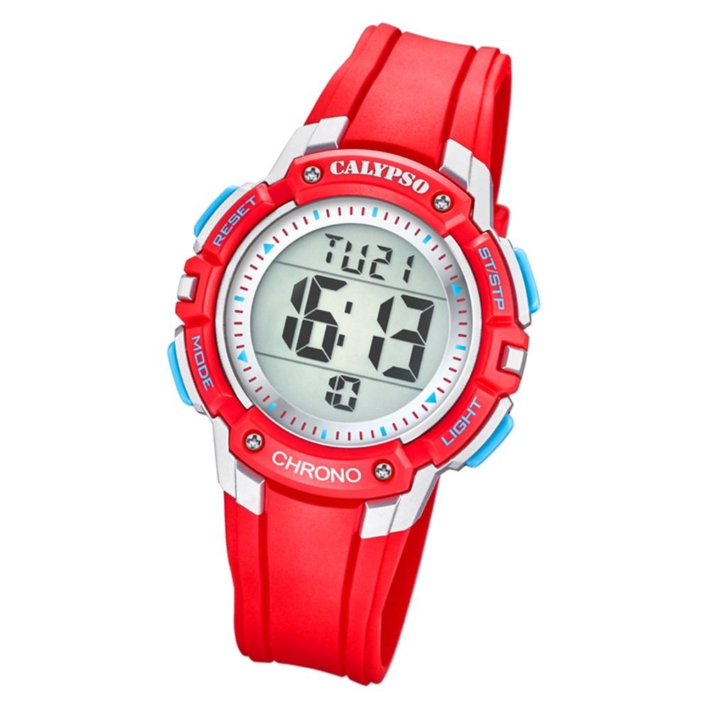 Calypso Kinder Armbanduhr Digital Crush K5739/1 Quarz-Uhr PU rot UK5739/1