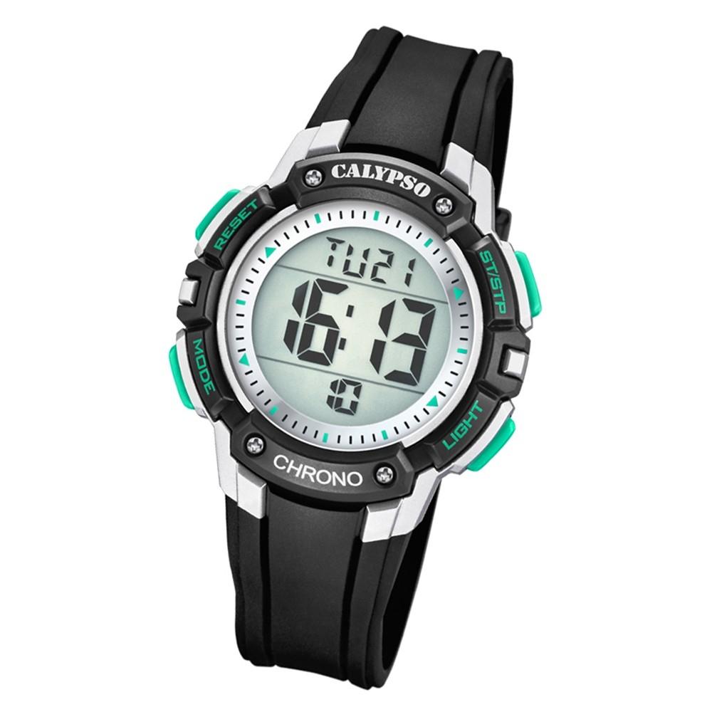 Calypso Kinder Armbanduhr Digital Crush K5739/3 Quarz-Uhr PU schwarz UK5739/3