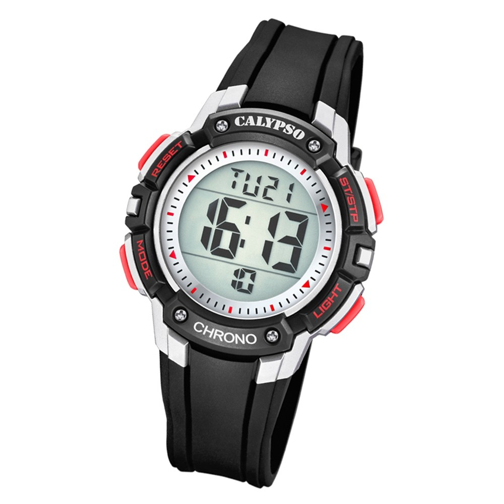 Calypso Kinder Armbanduhr Digital Crush K5739/4 Quarz-Uhr PU schwarz UK5739/4