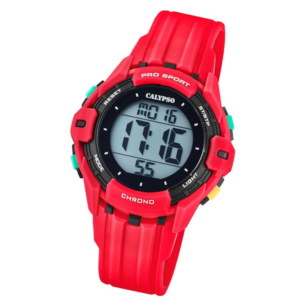 Calypso Kinder Armbanduhr Color Run K5740/3 Quarz-Uhr PU rot UK5740/3