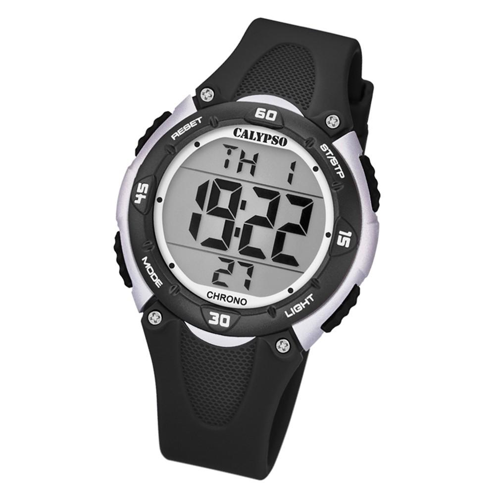 Calypso Kinder Armbanduhr Digital Crush K5741/4 Quarz-Uhr PU schwarz UK5741/4