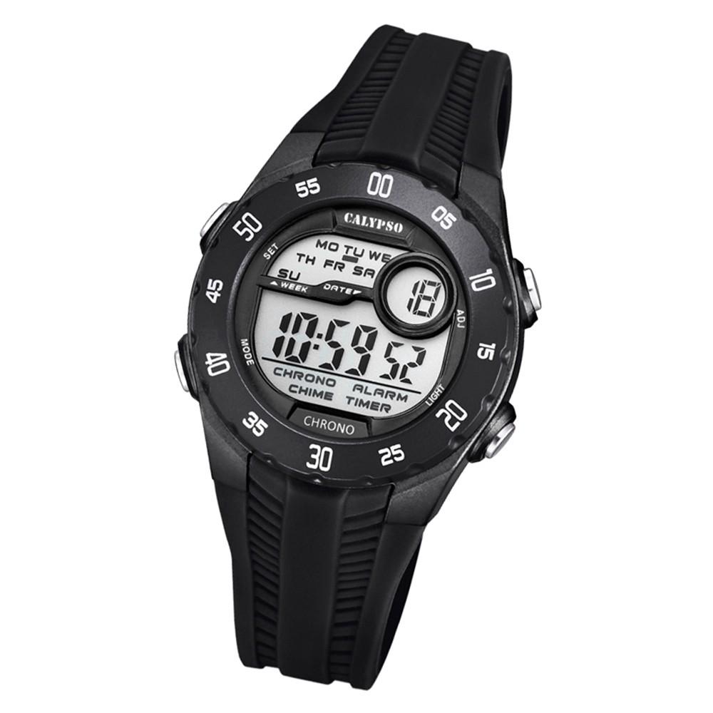Calypso Kinder Armbanduhr Digital Crush K5744/6 Quarz-Uhr PU schwarz UK5744/6