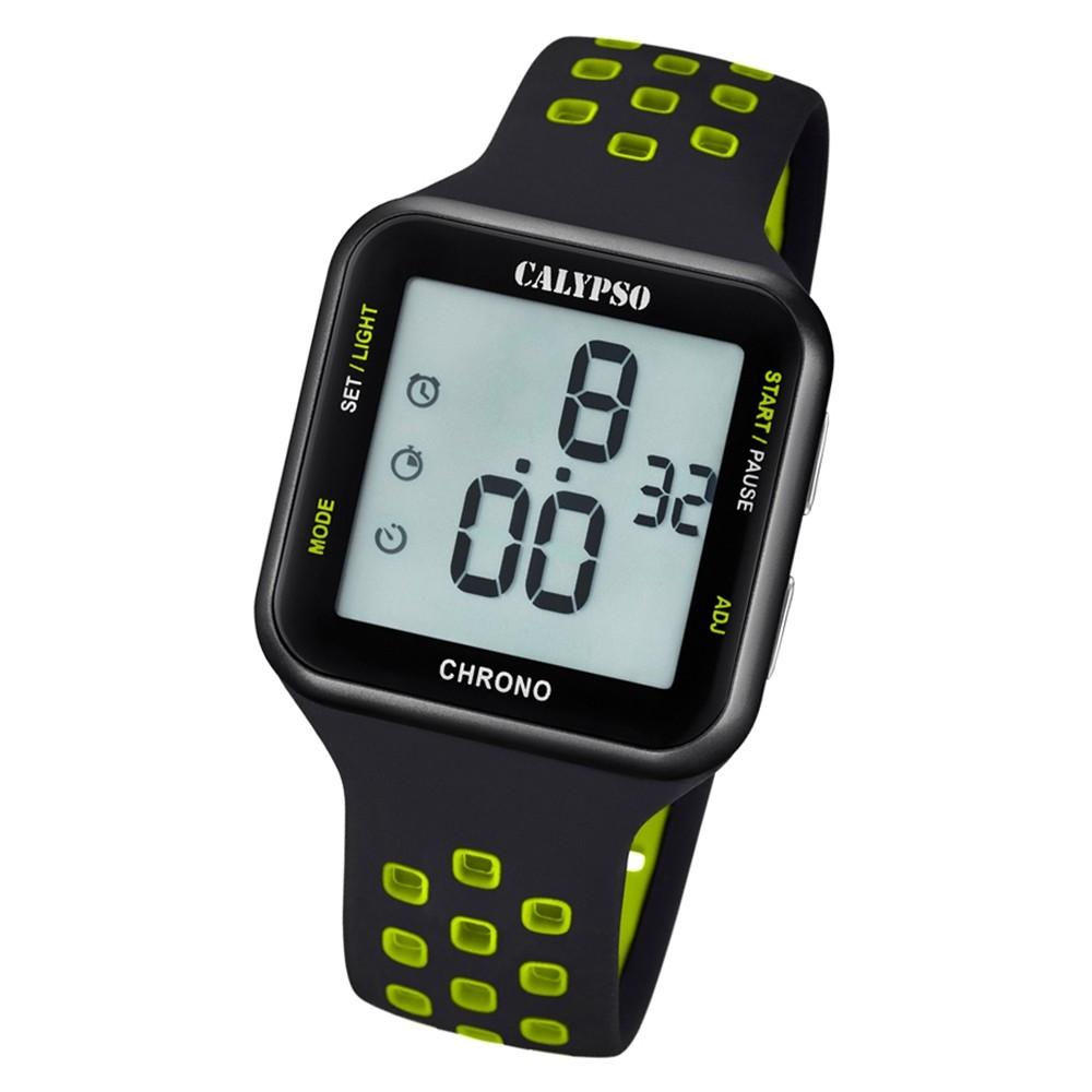 Calypso Unisex Armbanduhr Color Splash K5748/6 Quarz-Uhr PU schwarz UK5748/6
