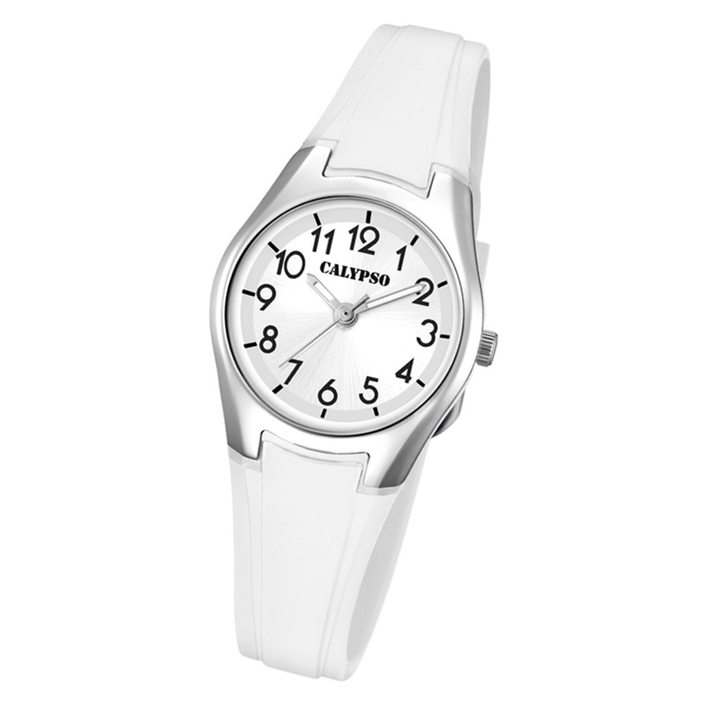 Calypso Damen Armbanduhr Sweet Time K5750/1 Quarz-Uhr PU weiß UK5750/1