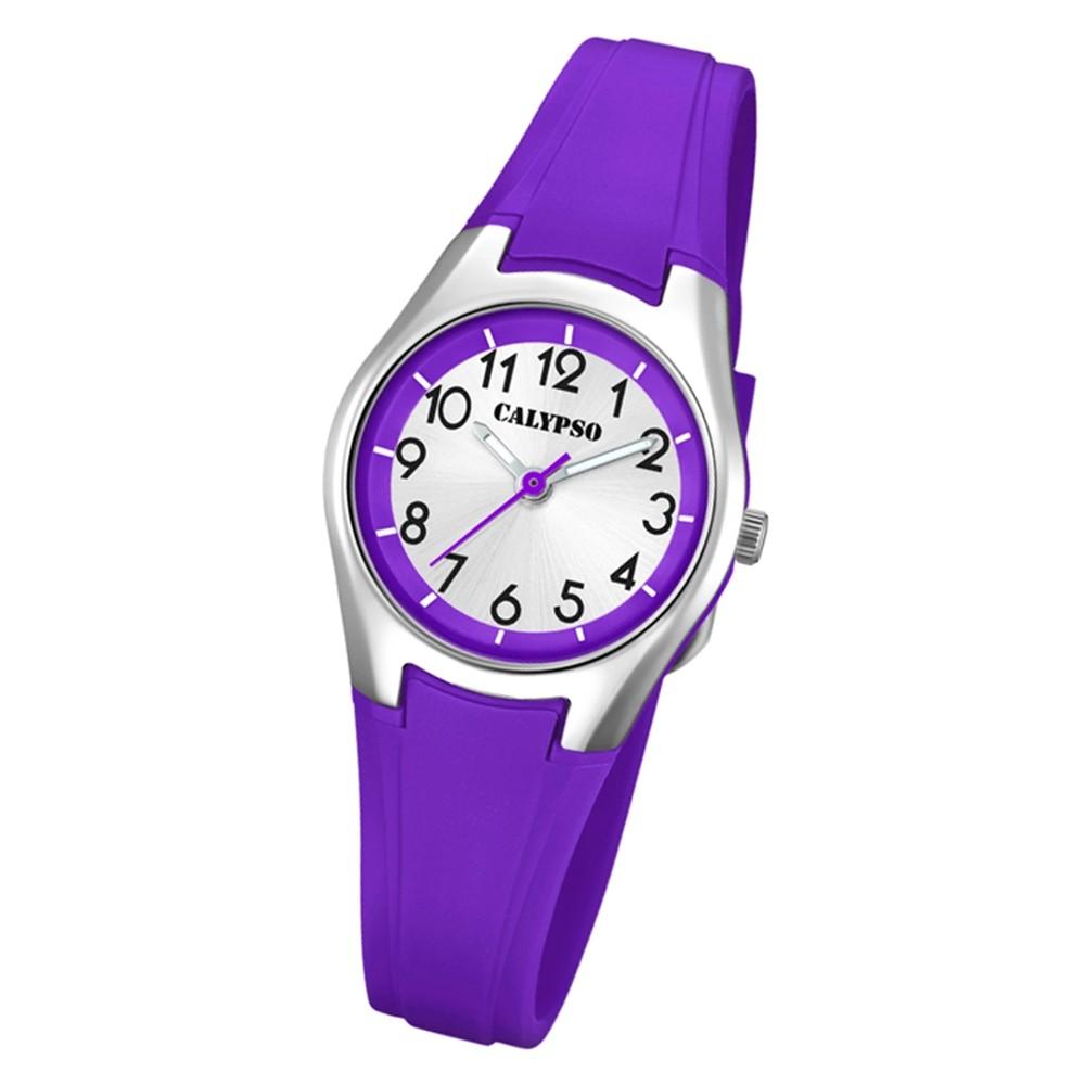 Calypso Damen Armbanduhr Sweet Time K5750/3 Quarz-Uhr PU lila UK5750/3