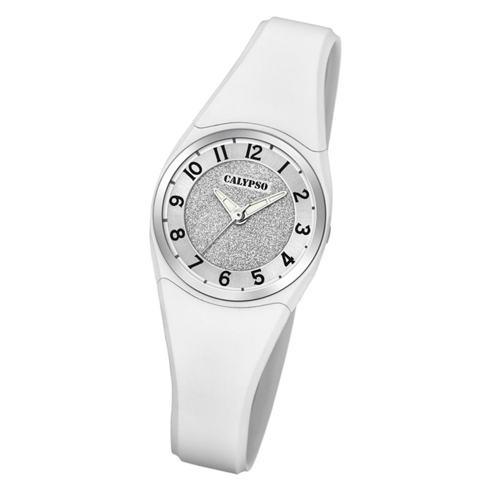 Calypso Damen Armbanduhr Trendy K5752/1 Quarzwerk-Uhr PU weiß UK5752/1