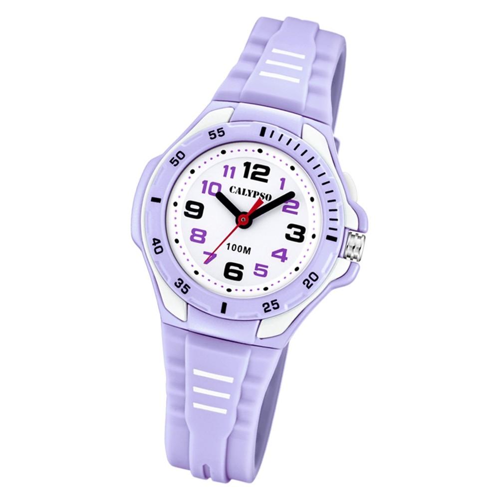 Calypso Kinder Armbanduhr Sweet Time K5757/2 Quarz-Uhr PU lila UK5757/2