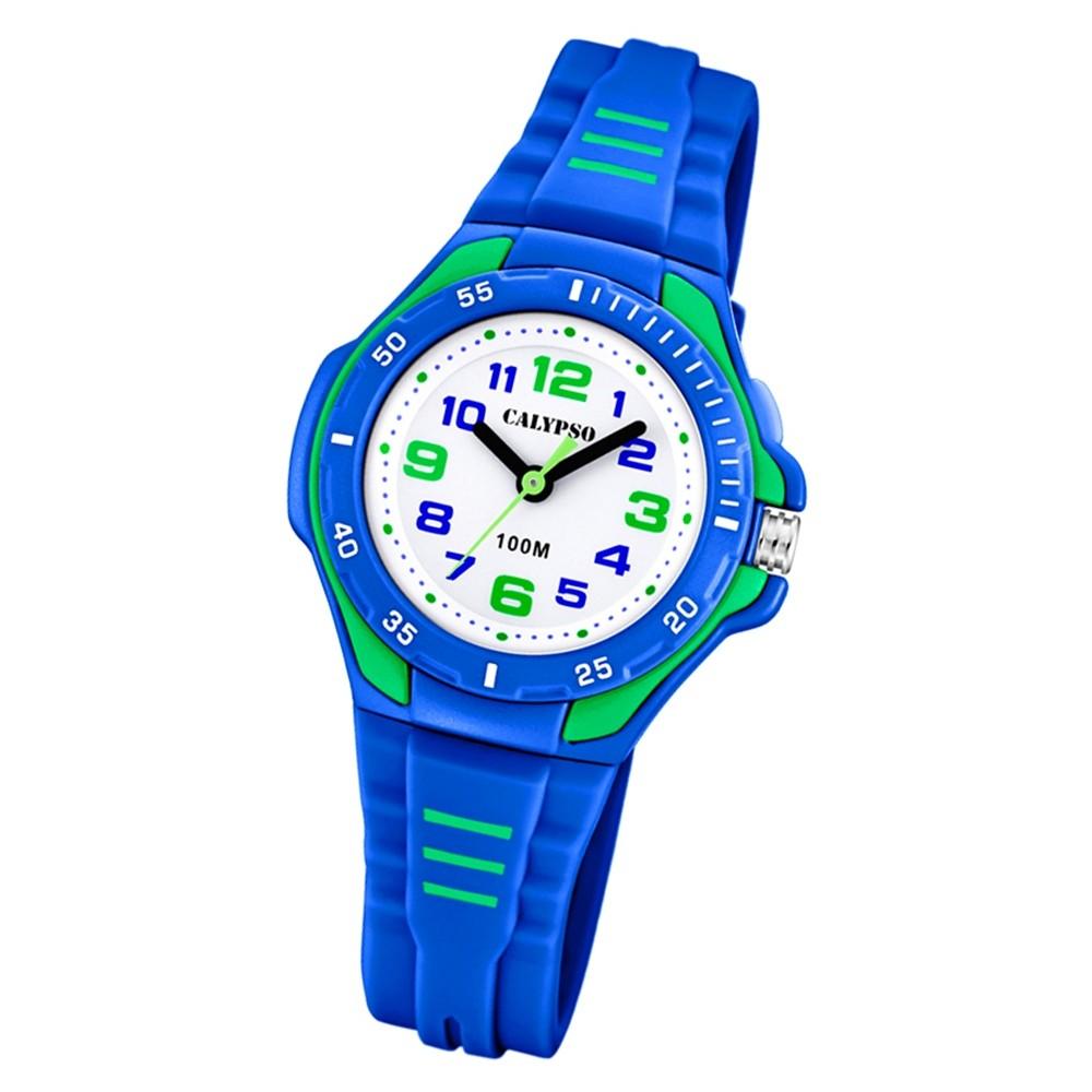 Calypso Kinder Armbanduhr Sweet Time K5757/4 Quarz-Uhr PU blau UK5757/4