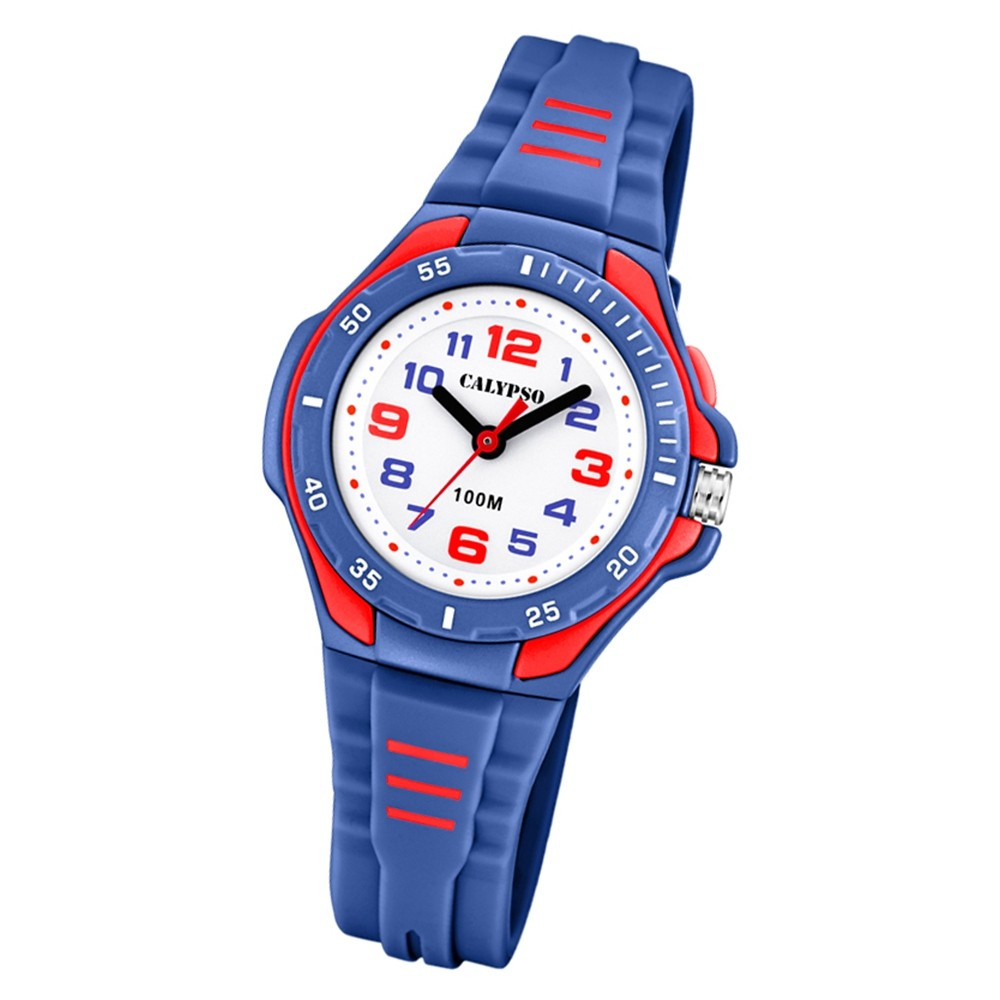 Calypso Kinder Armbanduhr Sweet Time K5757/5 Quarz-Uhr PU blau UK5757/5