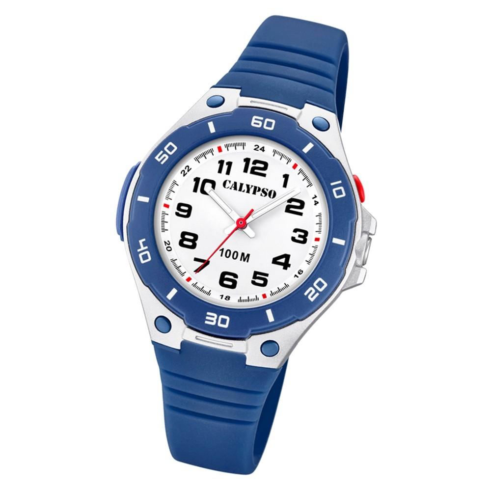 Calypso Kinder Armbanduhr Sweet Time K5758/2 Quarz-Uhr PU blau UK5758/2