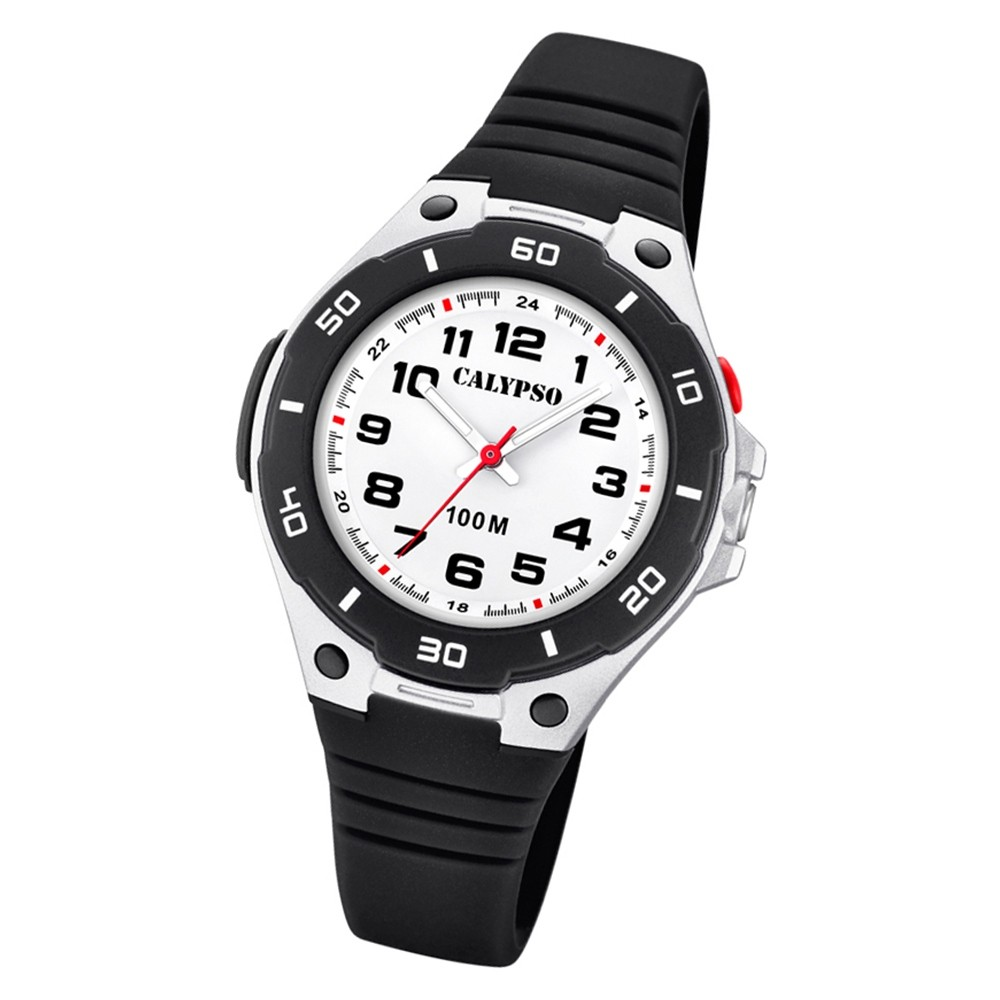 Calypso Kinder Armbanduhr Sweet Time K5758/6 Quarz-Uhr PU schwarz UK5758/6