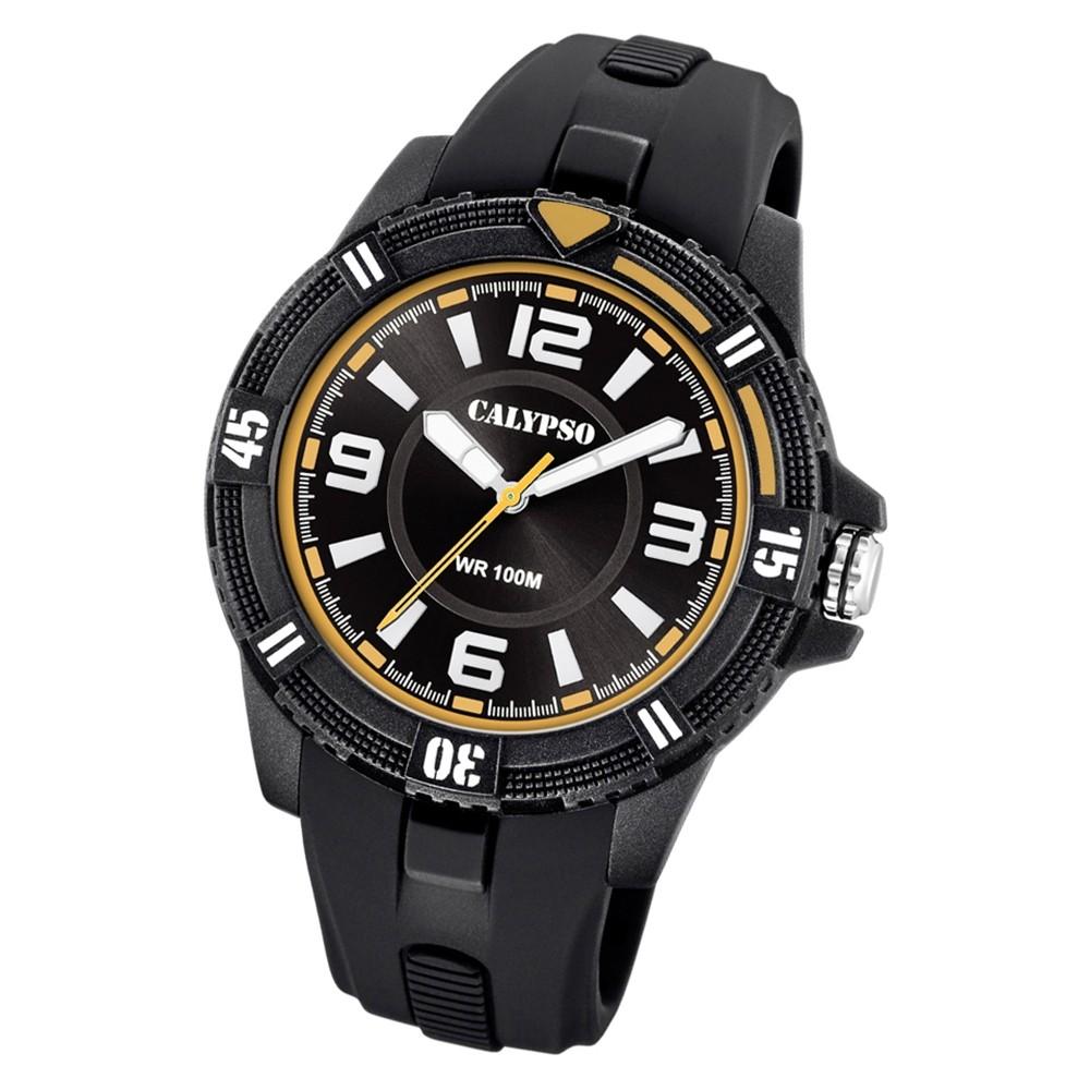 Calypso Herren Armbanduhr Street Style K5759/3 Quarz-Uhr PU schwarz UK5759/3