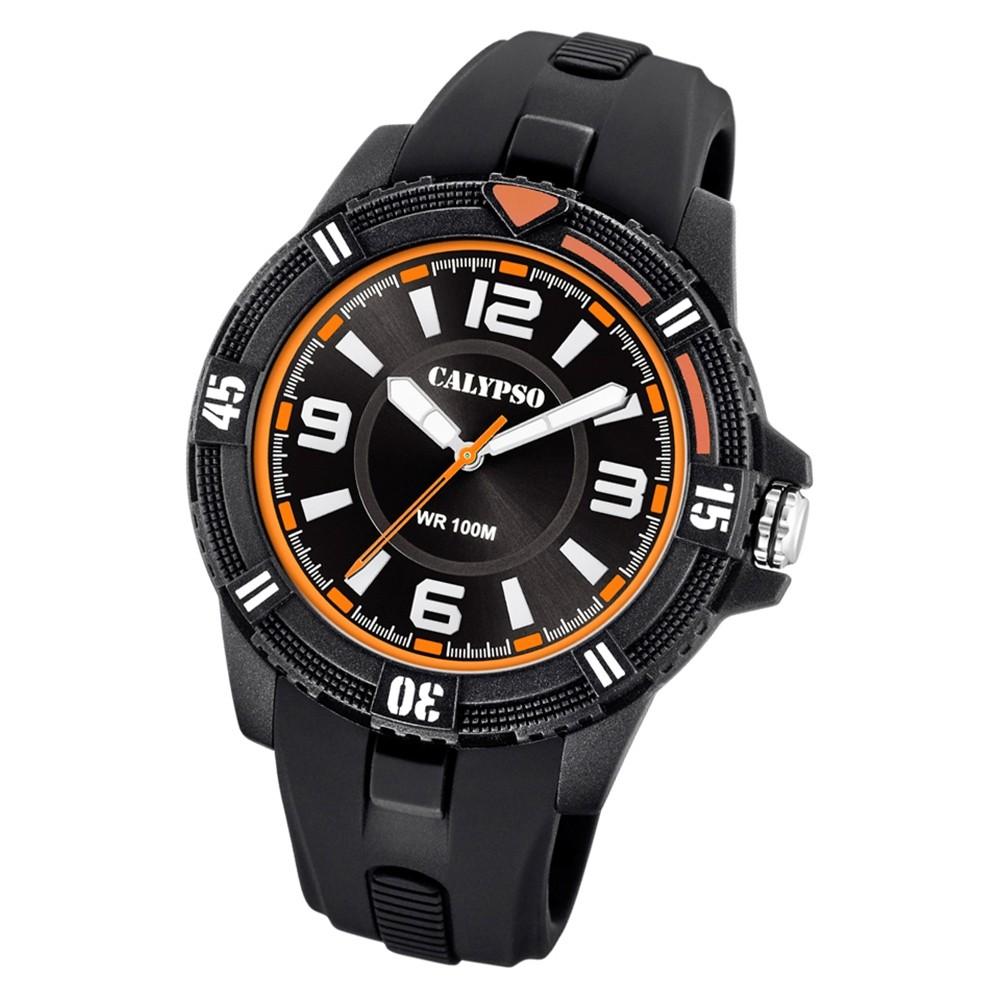 Calypso Herren Armbanduhr Street Style K5759/4 Quarz-Uhr PU schwarz UK5759/4