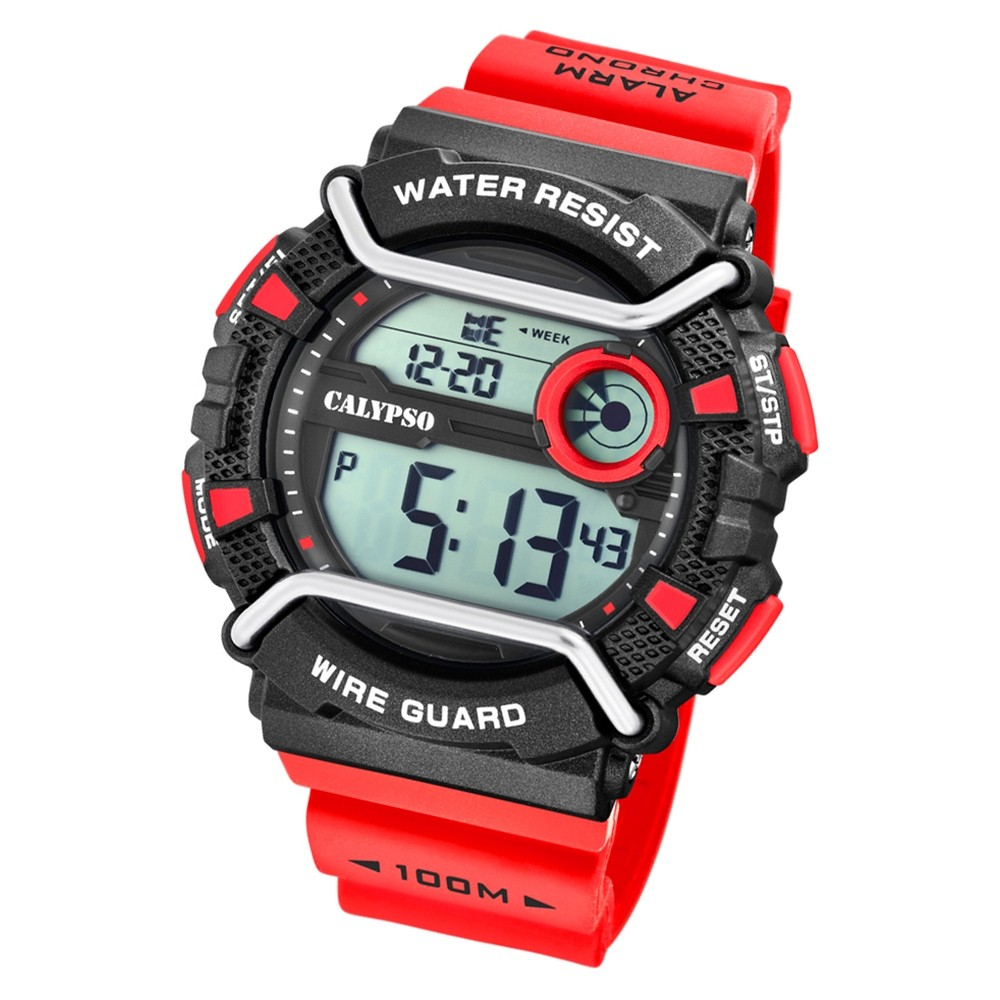 Calypso Herren Armbanduhr Xtreme K5764/2 Quarzwerk-Uhr PU rot UK5764/2