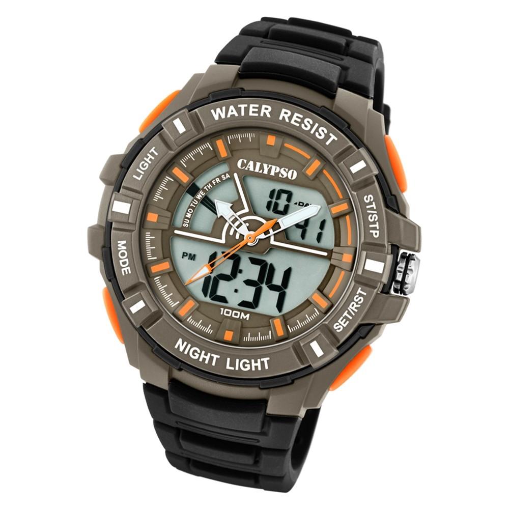 Calypso Herren Armbanduhr Street Style K5769/1 Quarz-Uhr PU schwarz UK5769/1