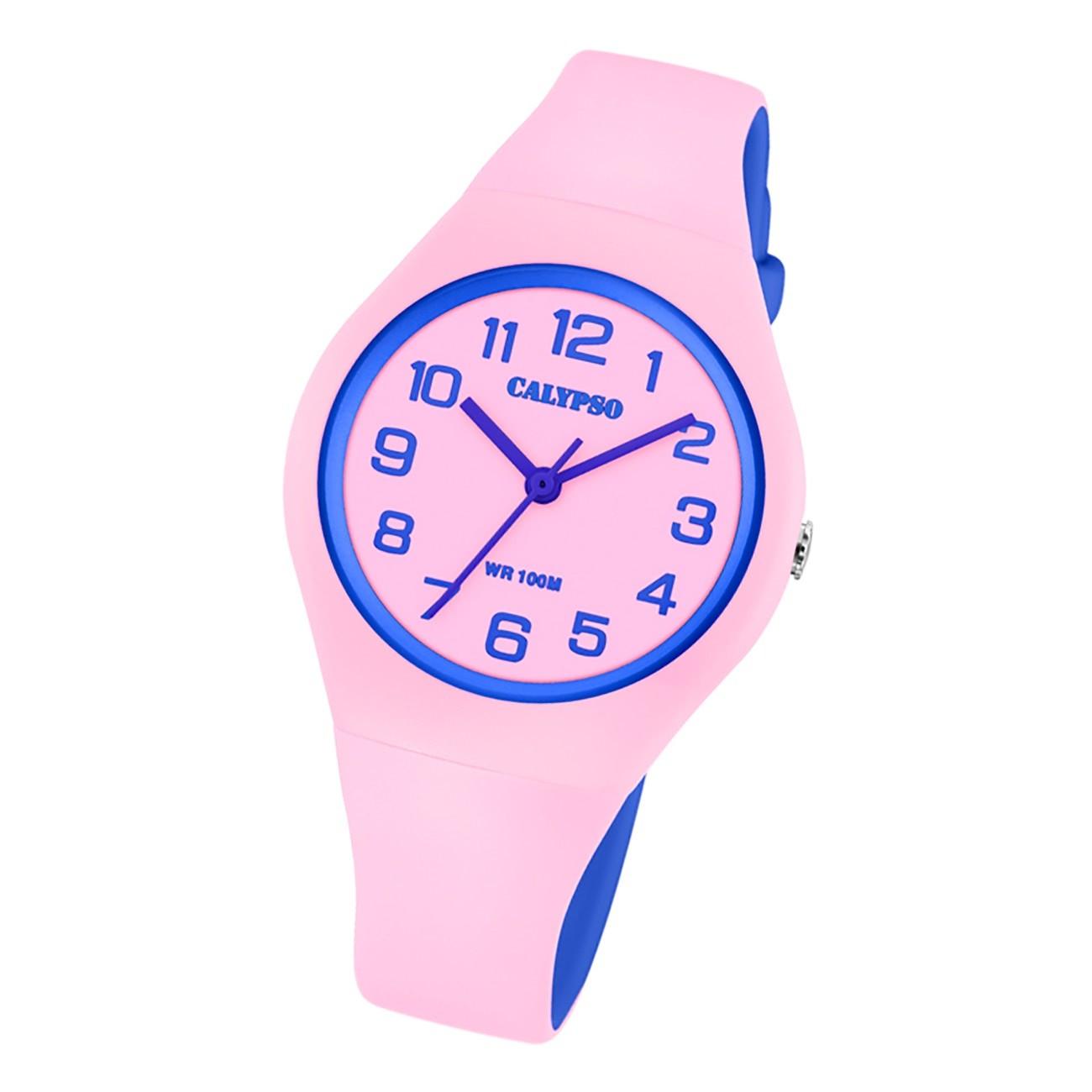 Calypso Damen Jugend Armbanduhr Fashion K5777/1 Analog Kunststoff rosa UK5777/1