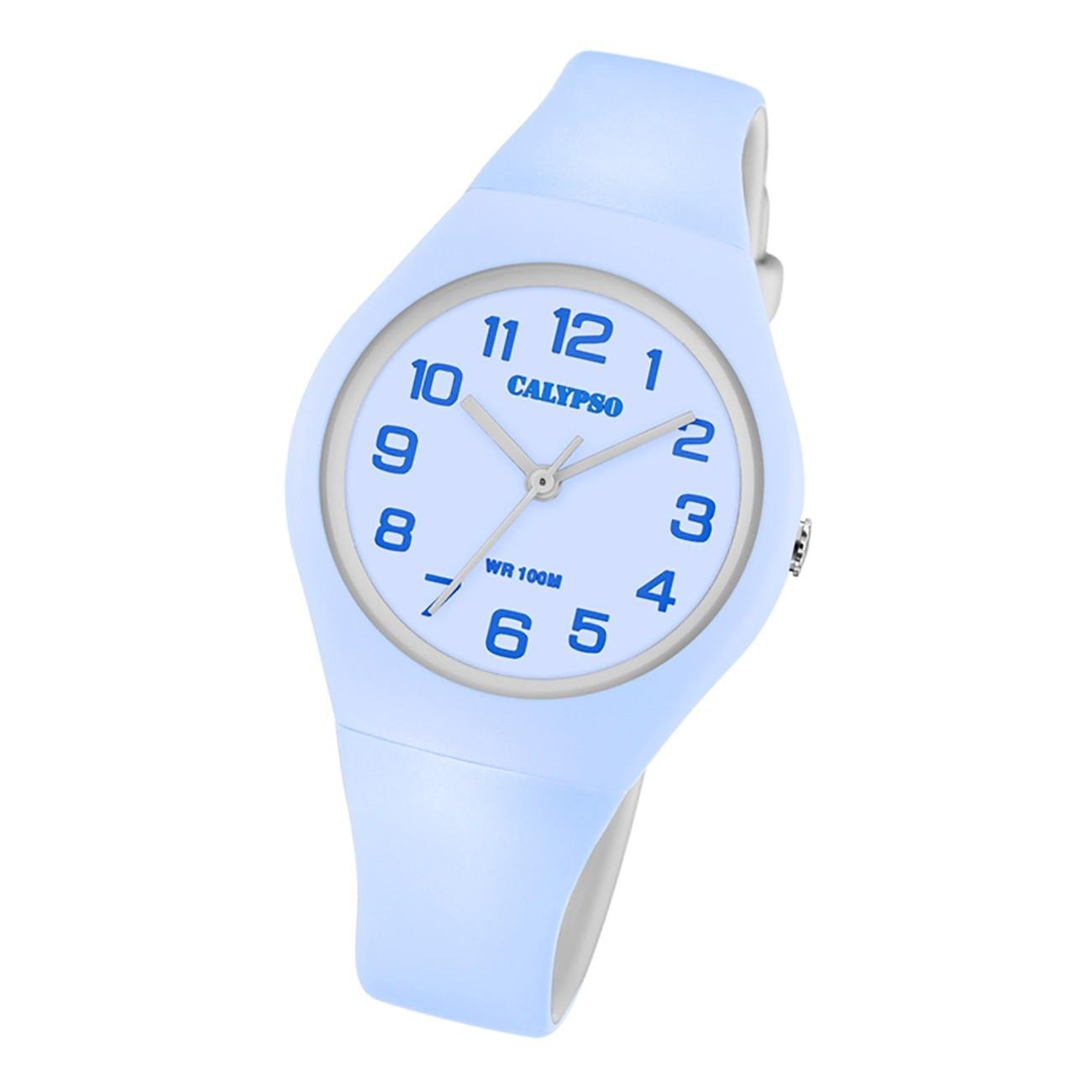Calypso Damen Jugend Armbanduhr K5777/2 Analog Kunststoff hellblau UK5777/2