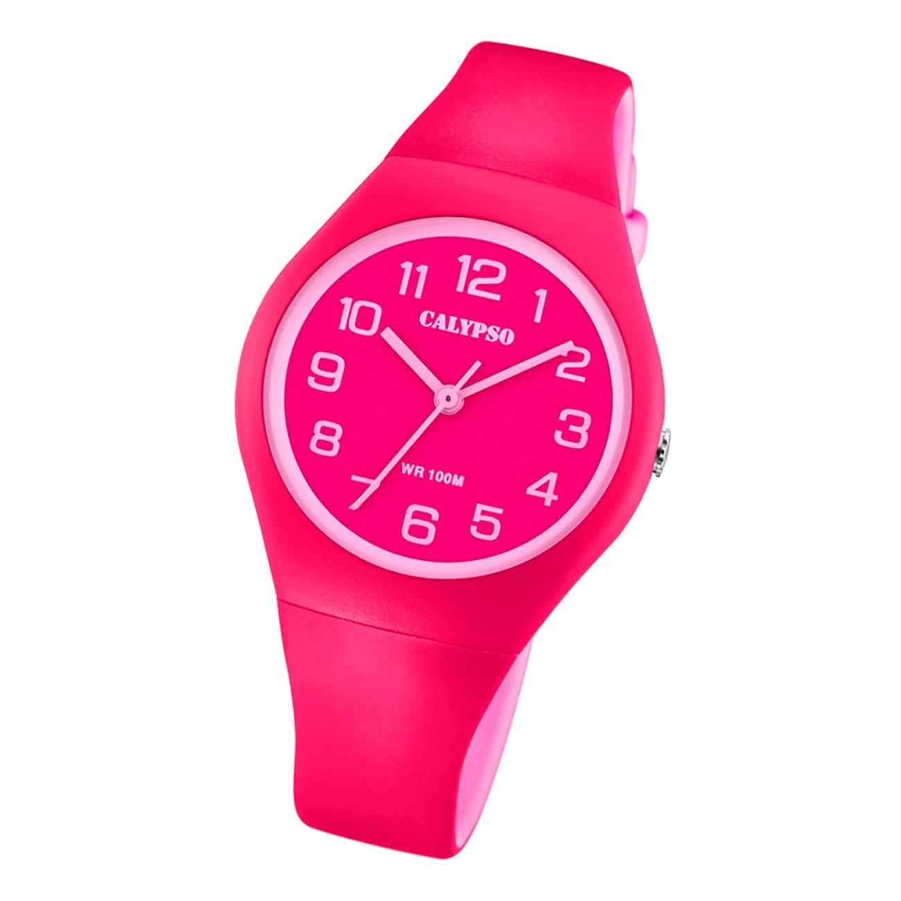 Calypso Damen Jugend Armbanduhr Analogico K5777/3 Analog Kunststoff rot UK5777/3
