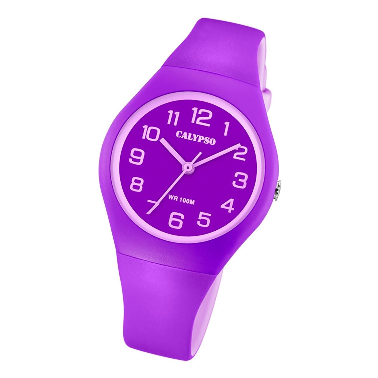 Calypso Damen Jugend Armbanduhr Fashion K5777/4 Analog Kunststoff lila UK5777/4