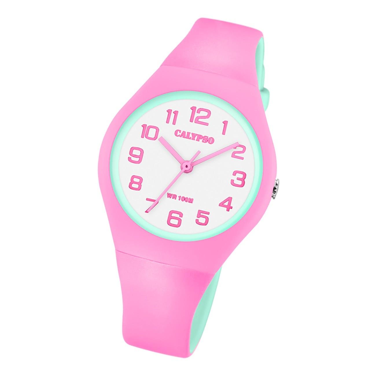 Calypso Damen Jugend Armbanduhr Fashion K5777/6 Analog Kunststoff pink UK5777/6