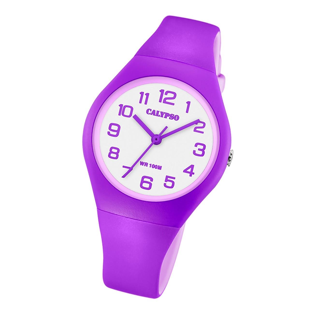 Calypso Damen Jugend Armbanduhr Fashion K5777/7 Analog Kunststoff lila UK5777/7
