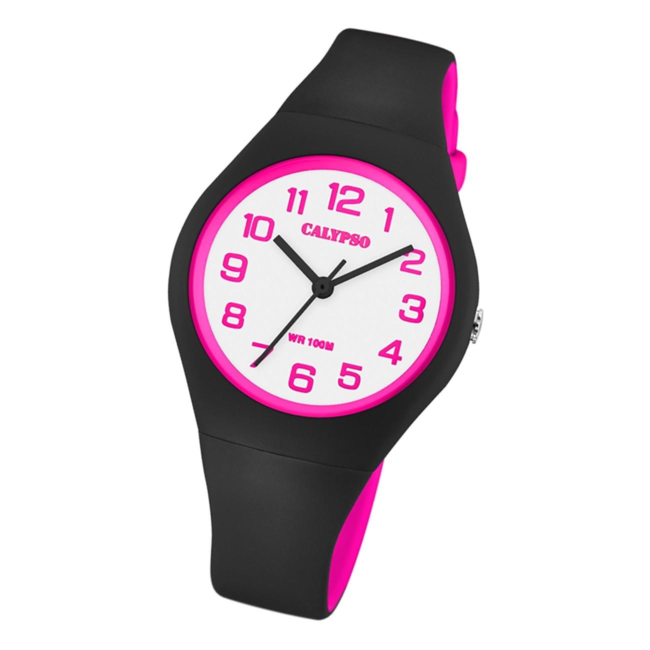 Calypso Damen Jugend Armbanduhr K5777/8 Analog Kunststoff schwarz UK5777/8