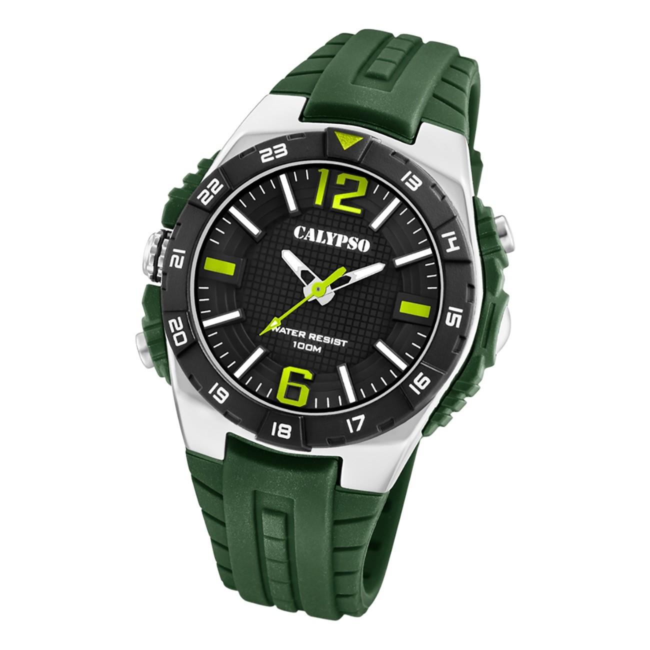 Calypso Herren Jugend Armbanduhr Outdoor K5778/2 Analog Kunststoff grün UK5778/2