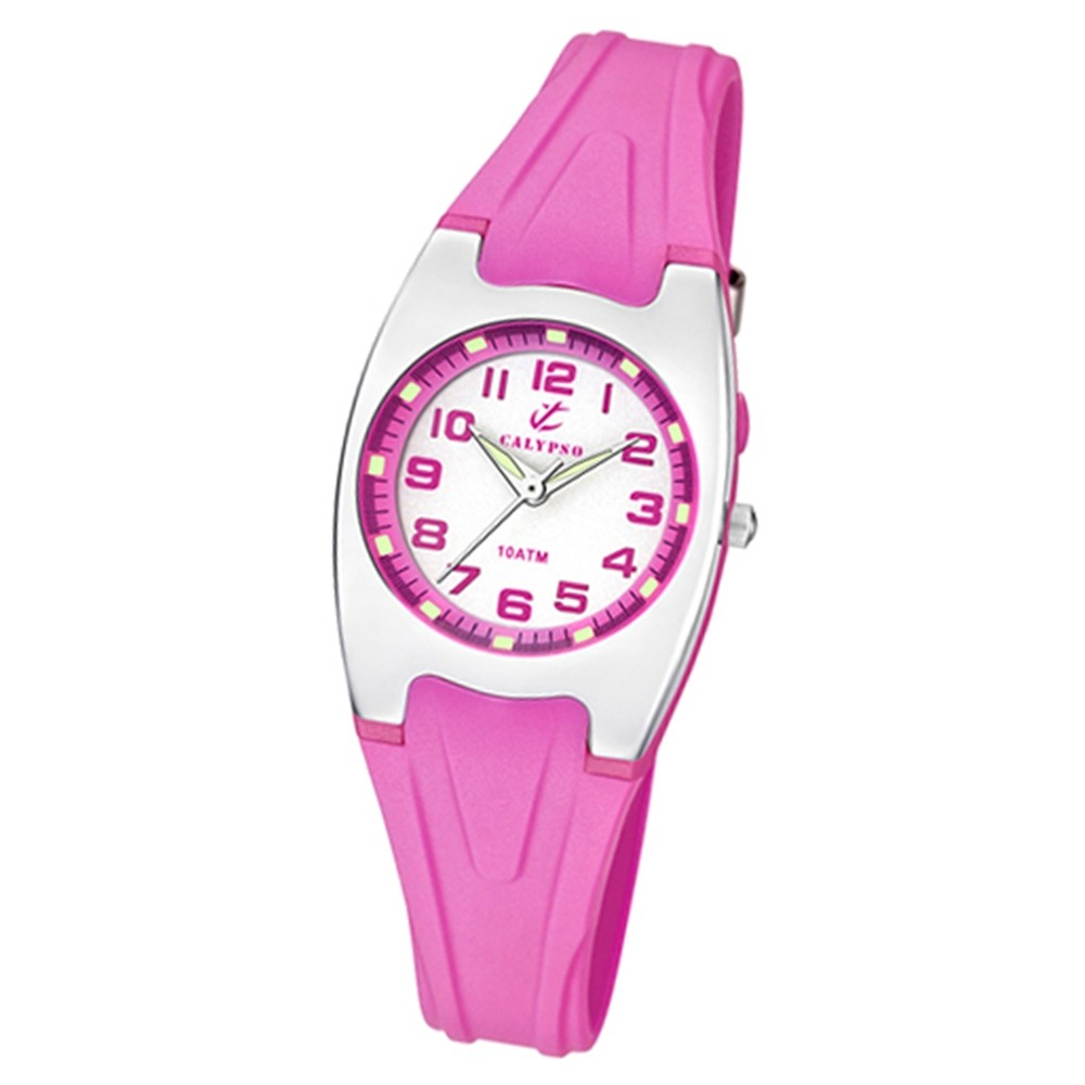CALYPSO Damen-Armbanduhr Fashion analog Quarz-Uhr PU pink UK6042/C