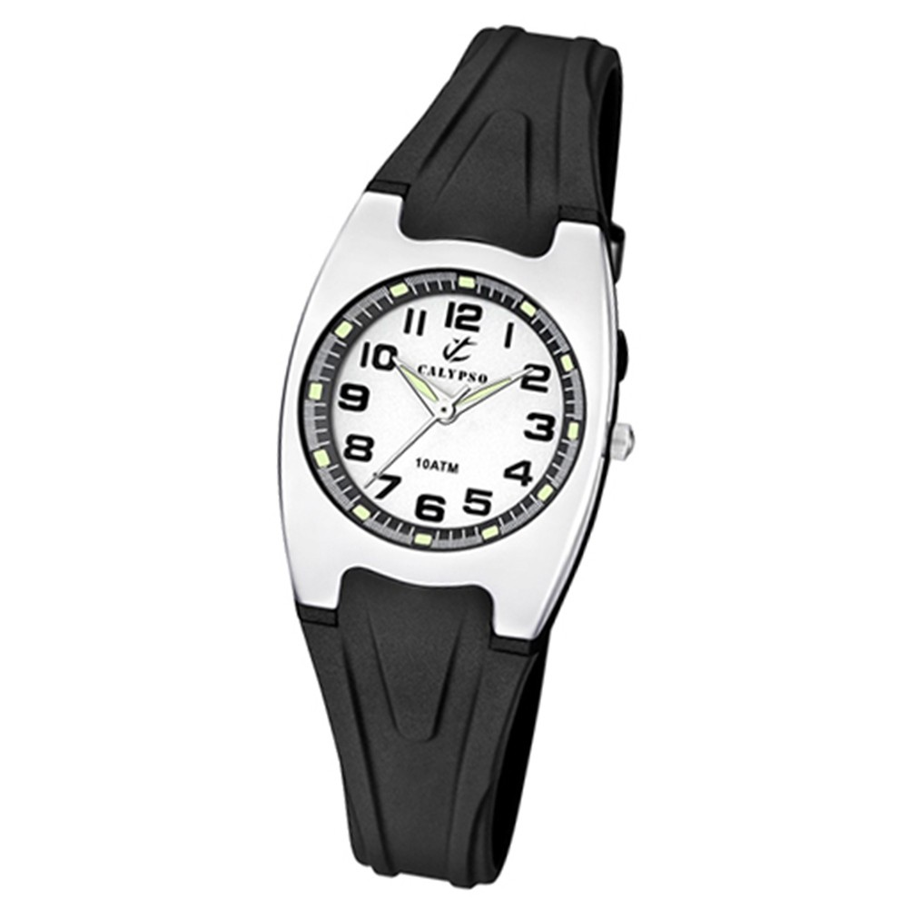 CALYPSO Damen-Armbanduhr Fashion analog Quarz-Uhr PU schwarz UK6042/F