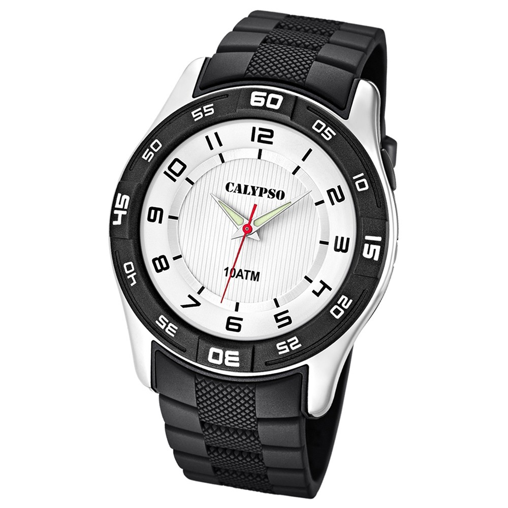 Calypso Herrenuhr schwarz-weiß Analog Uhren Kollektion UK6062/3