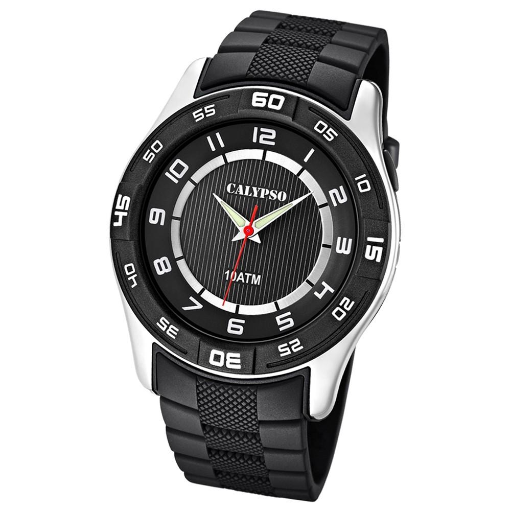 Calypso Herrenuhr schwarz-schwarz Analog Uhren Kollektion UK6062/4