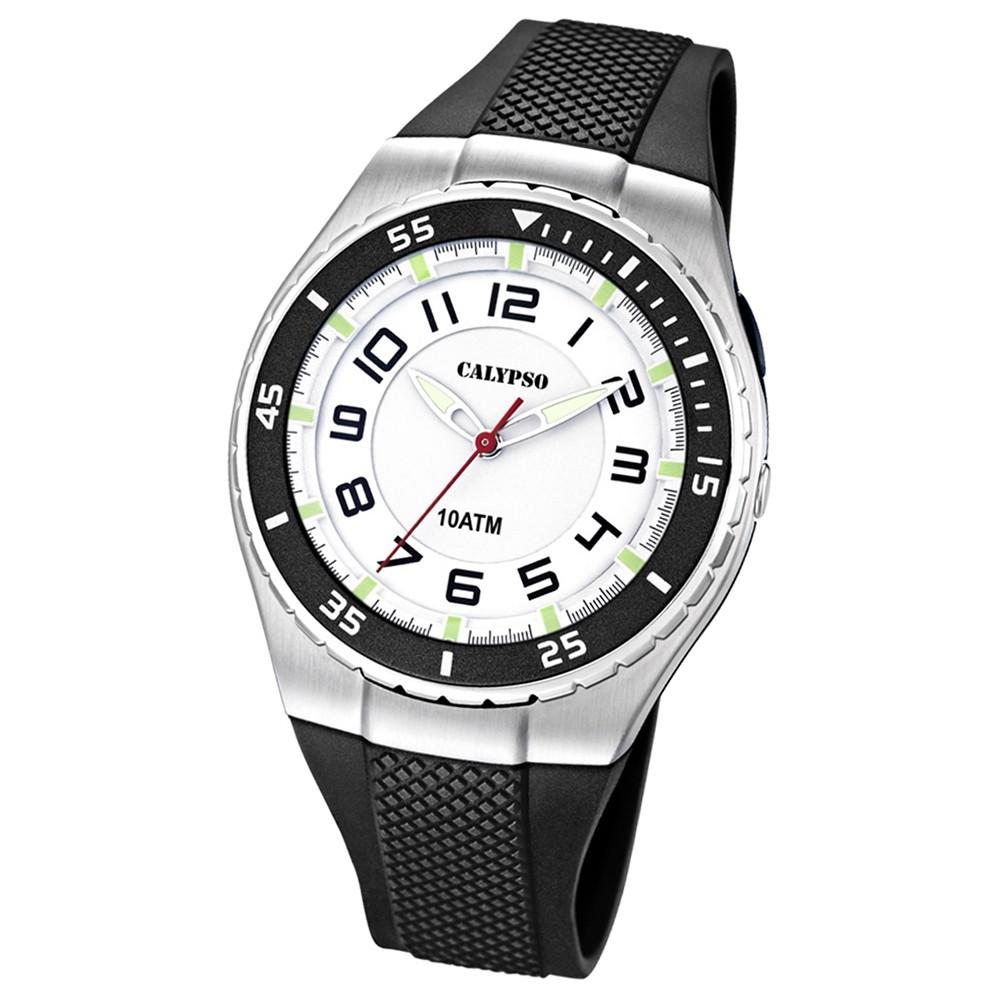 CALYPSO Herren-Armbanduhr Fashion analog Quarz-Uhr PU schwarz UK6063/3