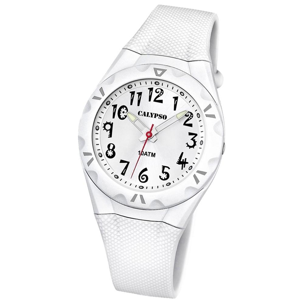 CALYPSO Damen-Armbanduhr Fashion analog Quarz-Uhr PU weiß UK6064/1