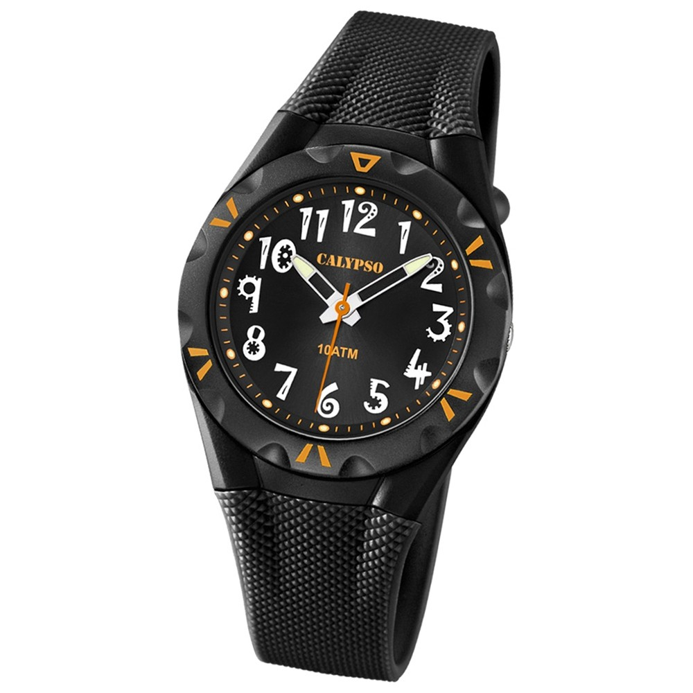 CALYPSO Damen-Armbanduhr Fashion analog Quarz-Uhr PU schwarz UK6064/6